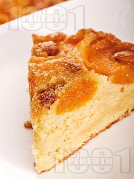 Вкусна обърната кайсиева торта / сладкиш с ядки - снимка на рецептата